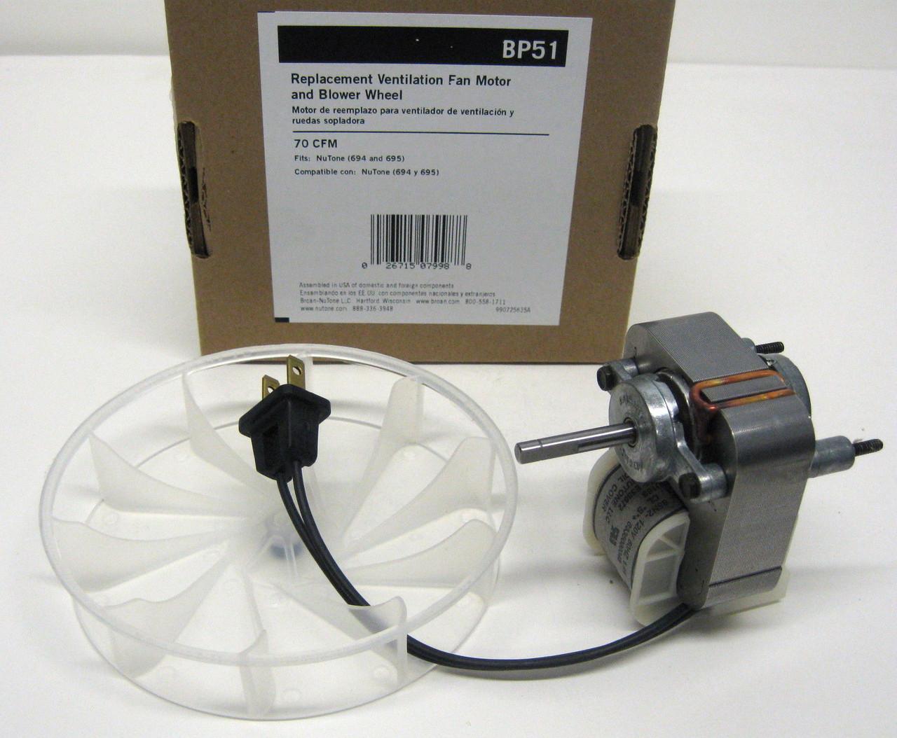 NEBOO 99080166 for Broan Nutone Vent Bath Fan Motor for Models 694 695 85N2 8335000046