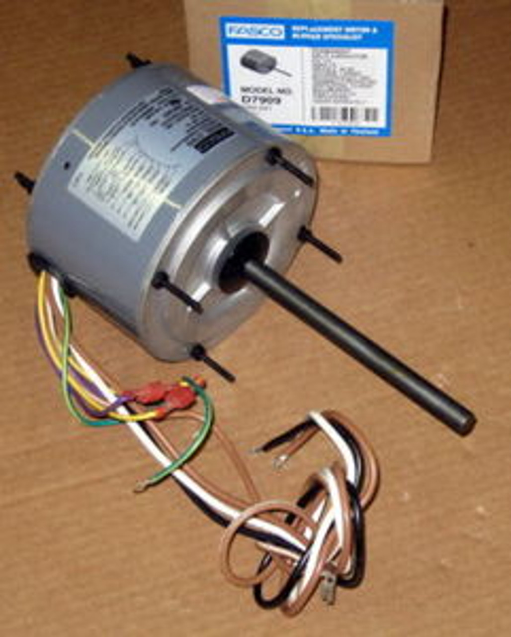 D7909 Fasco 1/4 HP 1075 RPM Air Conditioner Heat Pump Condenser Fan Motor  TENV - McCombs Supply Co IncMcCombs Supply