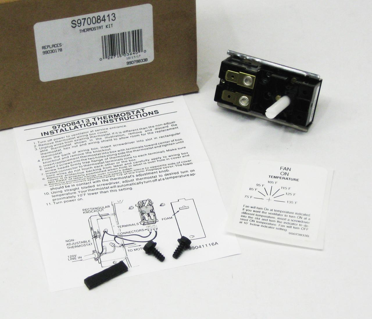 Broan Bi Metal Attic Fan Thermostat Mccombs Supply Co 97008413