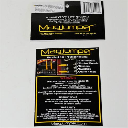 Supplying Demand Magjumper 30 VAC Magnetic Test Lead 3 Pack Kit Yellow Blue Black 20