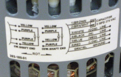 d7215 fasco 1/4 hp 1075 115 v 3 speed furnace blower fan motor w/ capacitor