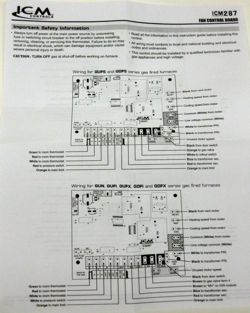 icm287 icm furnace control board module for goodman b1809904 b1809904
