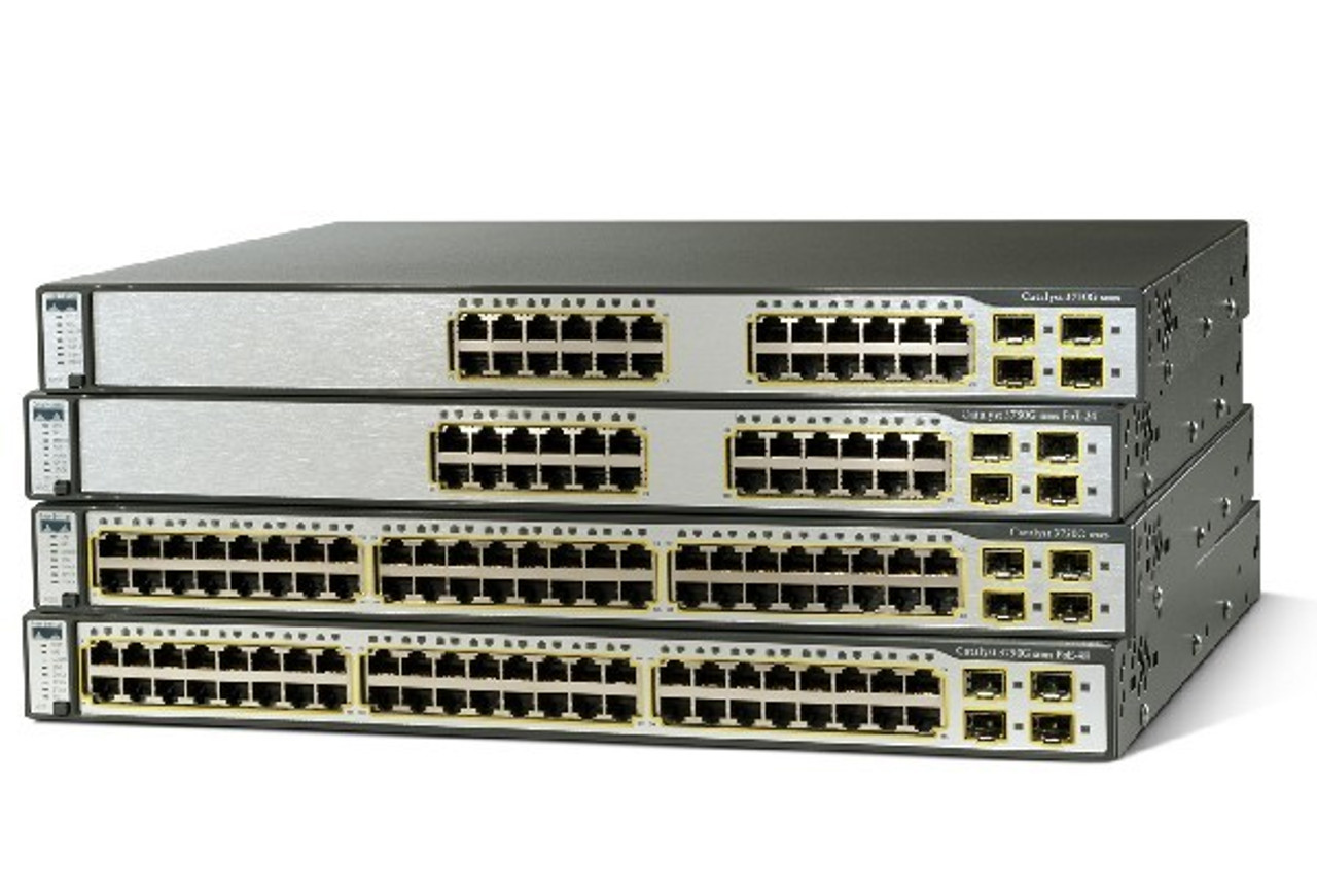 WS-C3750-48PS-S Cisco Catalyst 3750 Network Switch - Refurbished