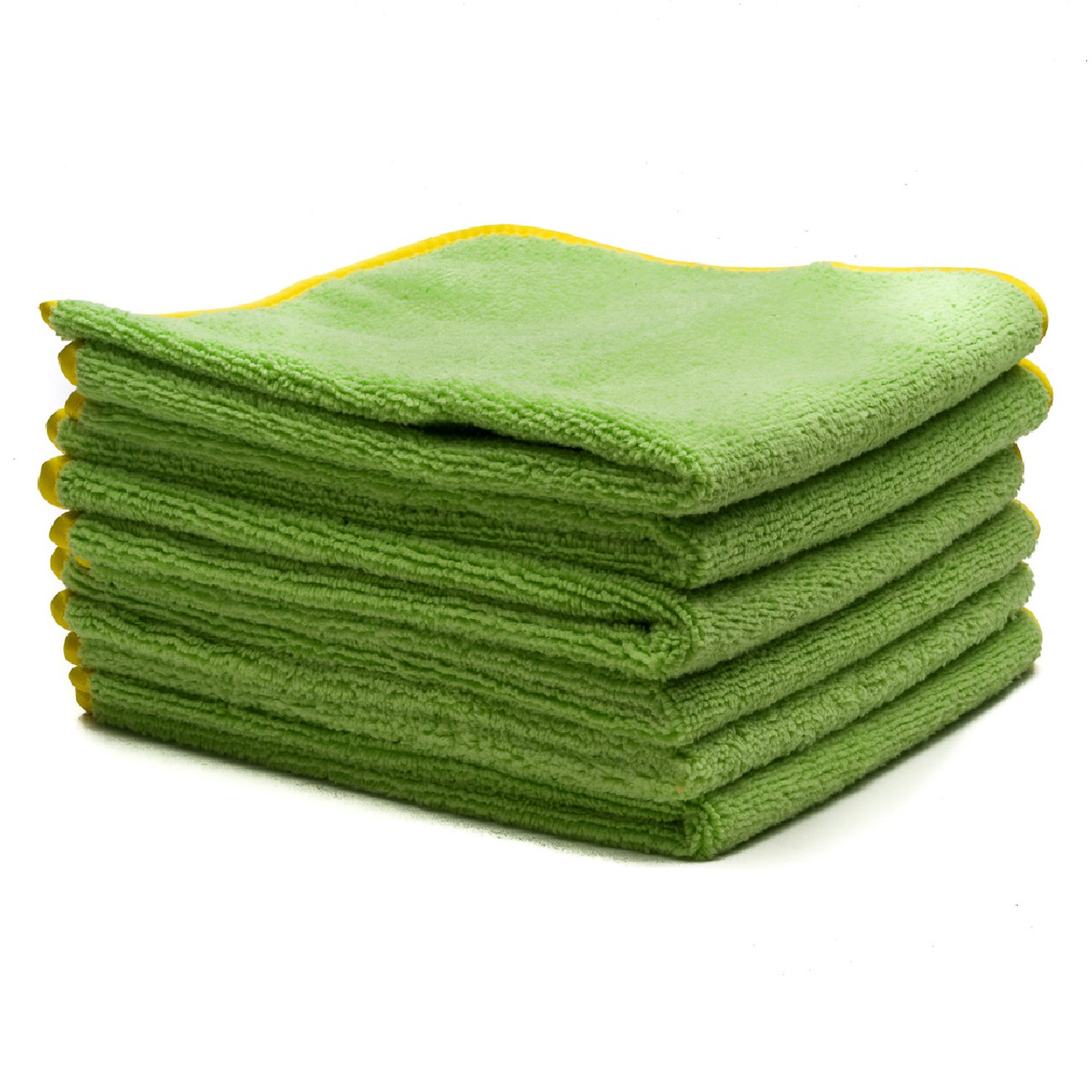"Poorboy's World Deluxe Mega Towel - Green - 16""x16"" - 6 Pack"