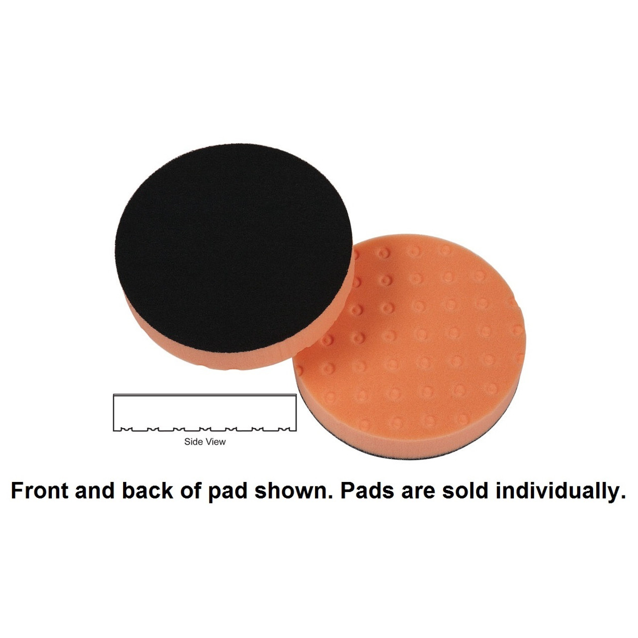 "Lake Country 4"" Spot Buff CCS Foam Pad - Orange, Light Cutting"