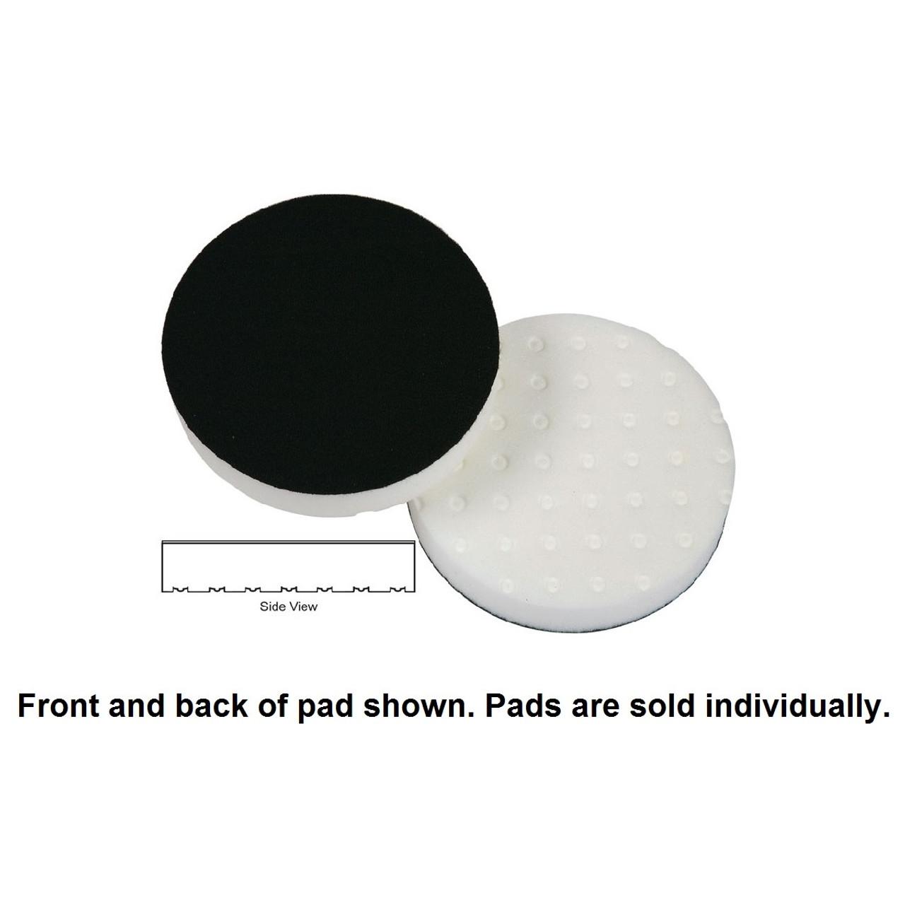 "Lake Country 4"" Spot Buff CCS Foam Pad - White, Polishing"