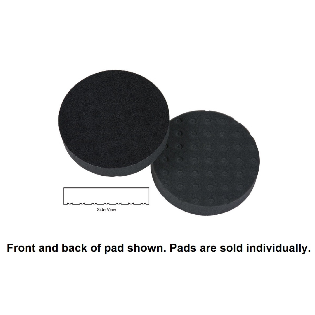 "Lake Country 4"" Spot Buff CCS Foam Pad - Black, Finessing"