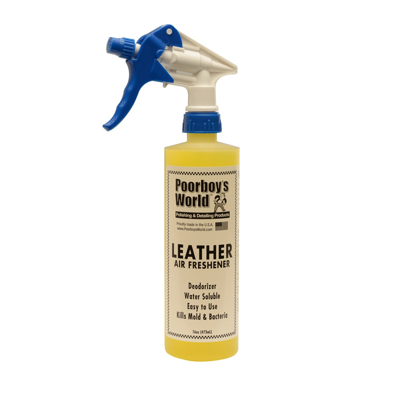 Poorboy's World Leather Air Freshener 16oz w/Sprayer