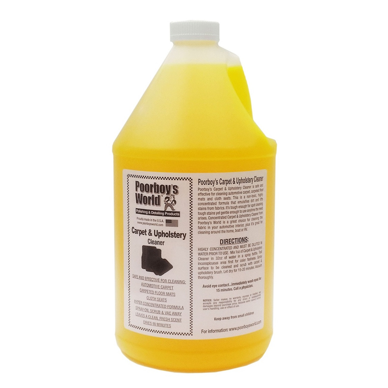 Poorboy's World Carpet & Upholstery Cleaner Gallon