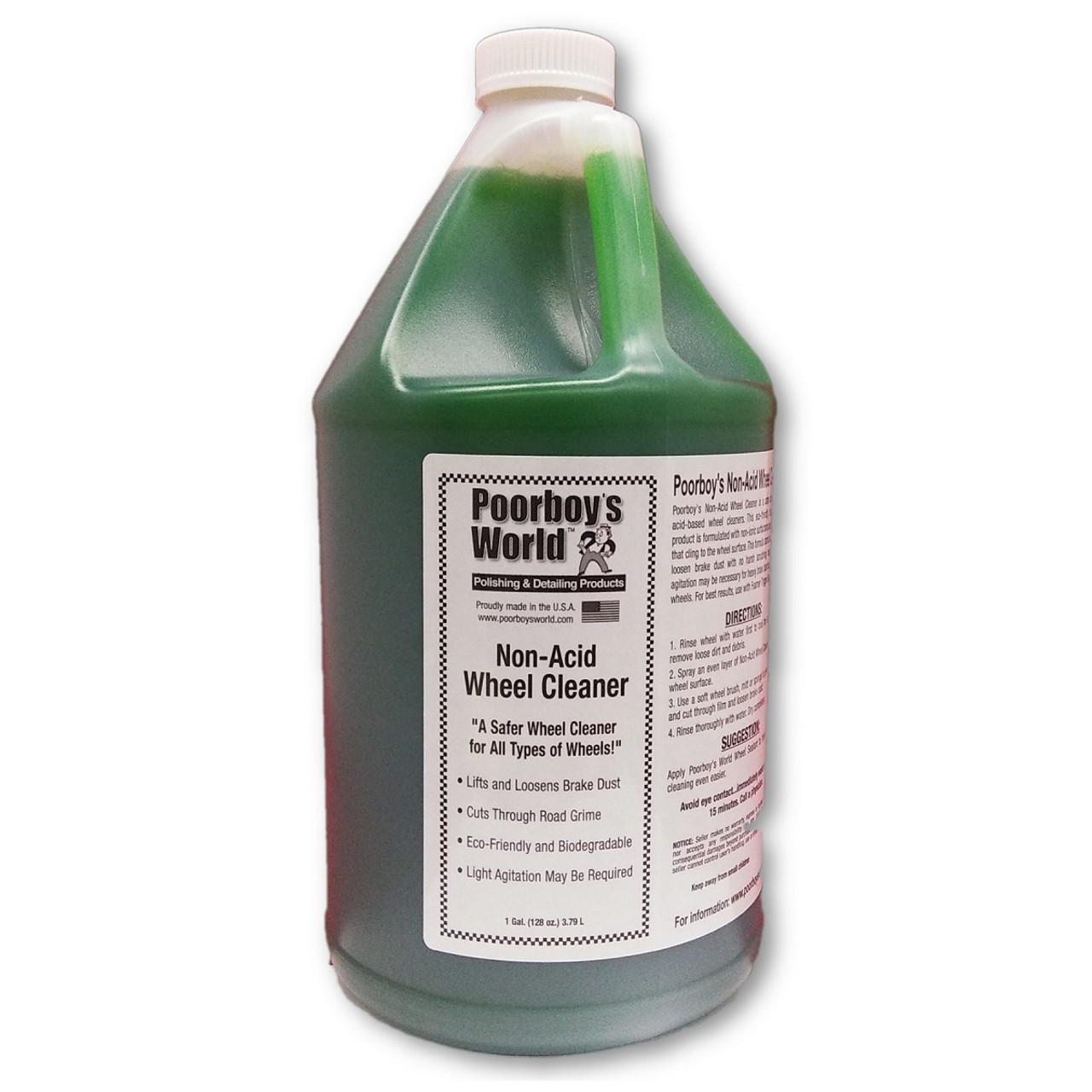 Poorboy's World Non-Acid Wheel & Tire Cleaner Gallon