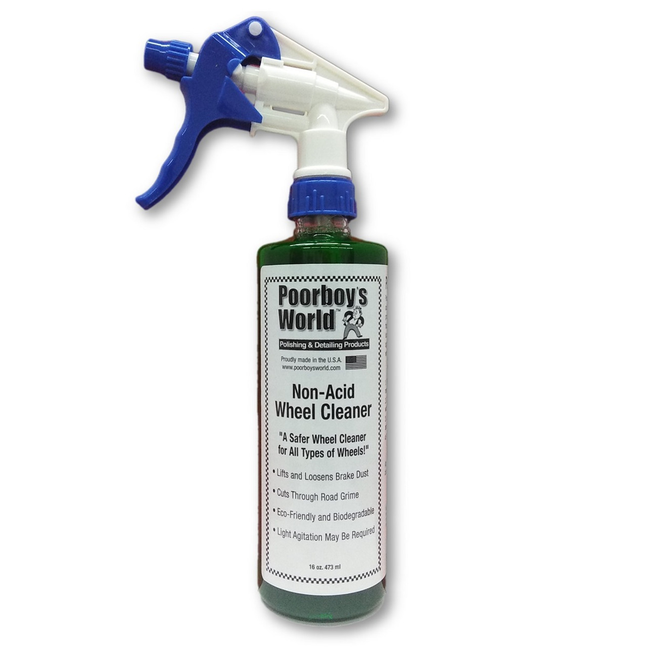 Poorboy's World Non-Acid Wheel & Tire Cleaner 16oz w/Sprayer
