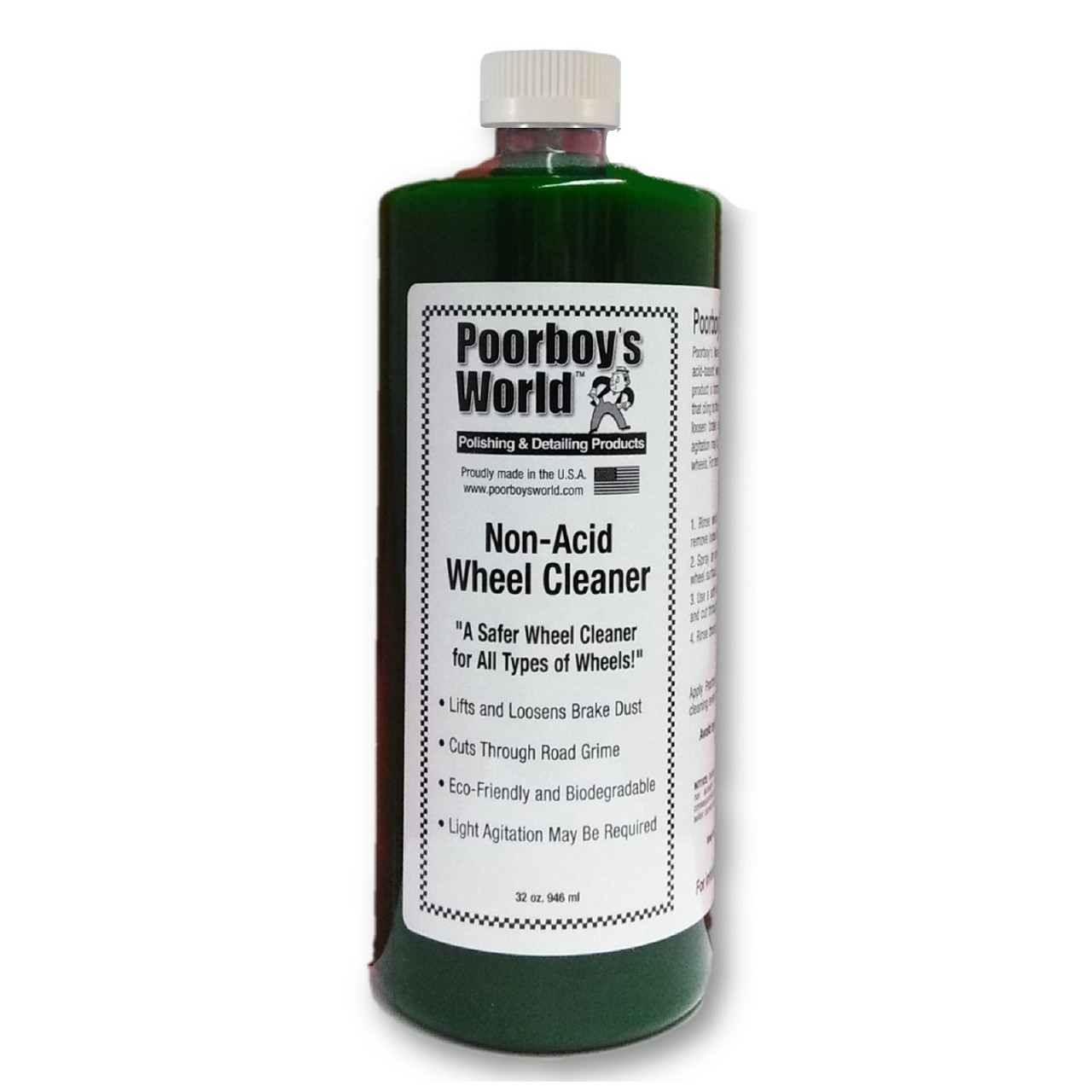 Poorboy's World Non-Acid Wheel & Tire Cleaner 32oz Refill