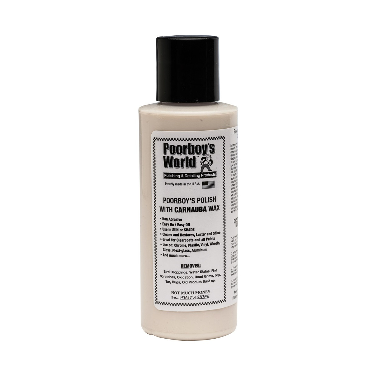 Poorboy's World Polish with Carnauba 4oz - Trial Size