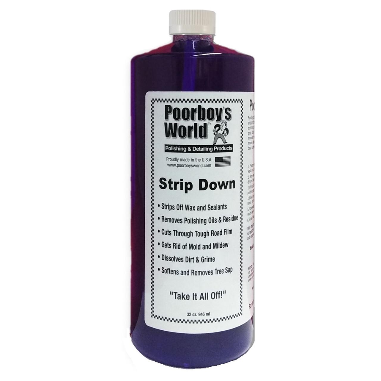 Poorboy's World Strip Down Wax Stripper 32oz Refill