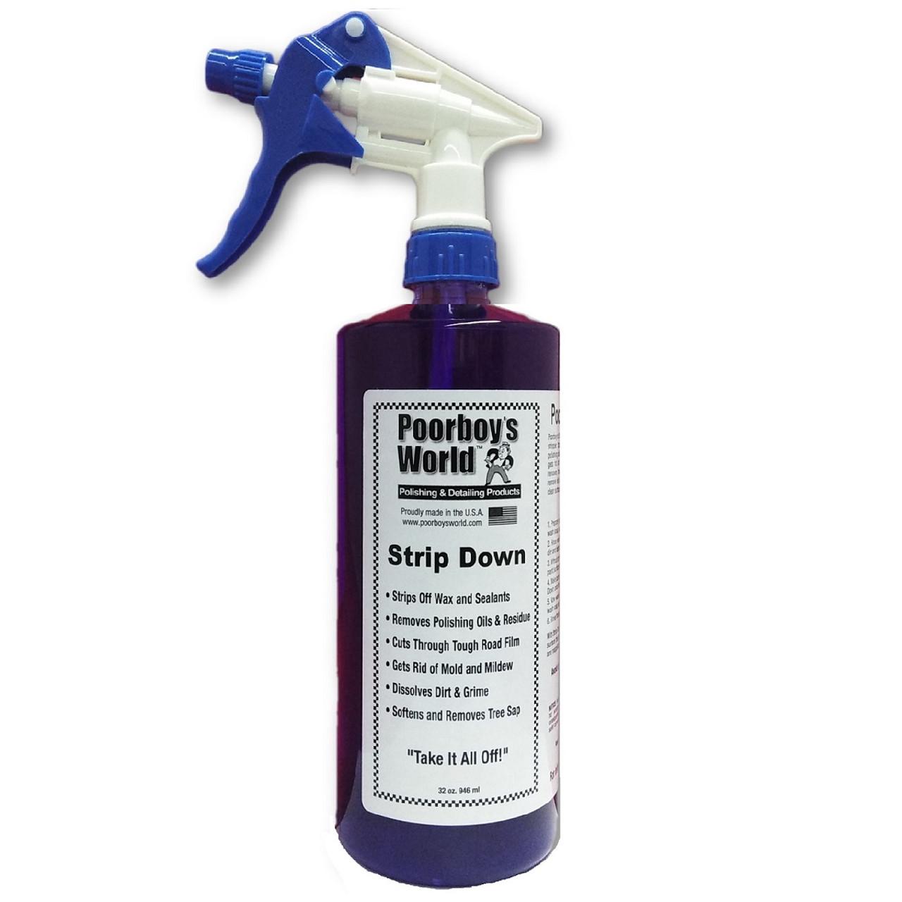 Poorboy's World Strip Down Wax Stripper 32oz w/Sprayer