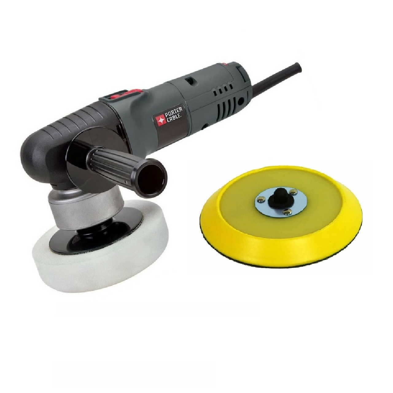 """Porter Cable 7424 XP Car Polisher with 6"""" Hook & Loop Backing Plate"""