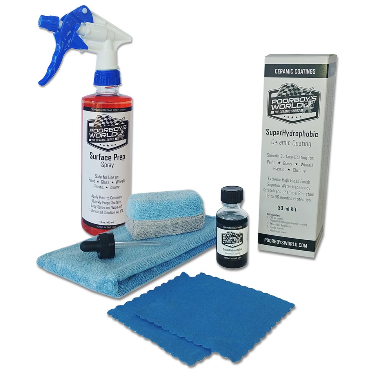 SuperHydrophobic Ceramic Coating 30 ml Kit PLUS 16 oz Surface Prep w/ Sprayer