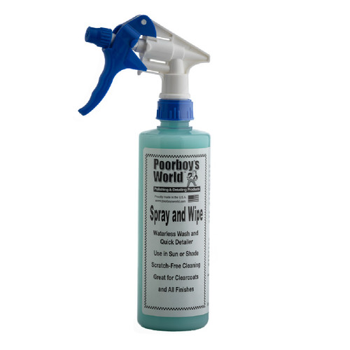 Poorboy's World Spray and Wipe Waterless Wash 16oz w/ Sprayer