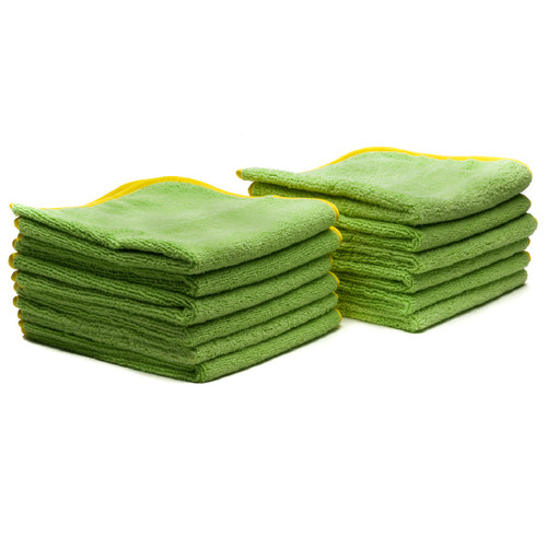 "Poorboy's World Deluxe Mega Towel - Green - 16""x16"" - 12 Pack"