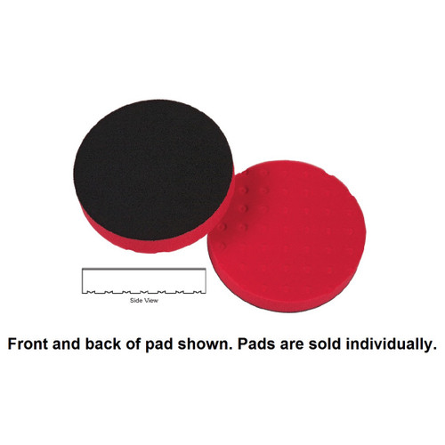 "Lake Country 4"" Spot Buff CCS Foam Pad - Red, Final Finishing"