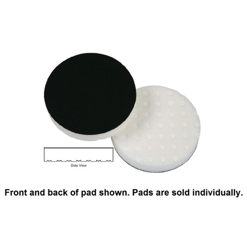 "Lake Country 4"" Spot Buff CCS Foam Pad - White, Polishing"