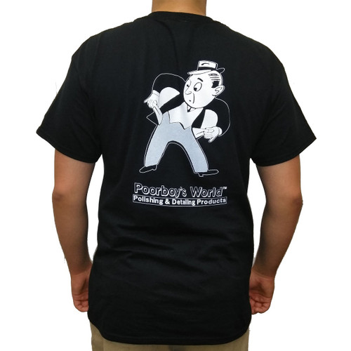 Poorboy's World Black T-Shirt w/ Pocket - Large - Back
