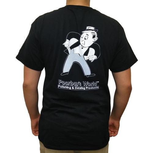 Poorboy's World Black T-Shirt w/ Pocket - Large - Back
