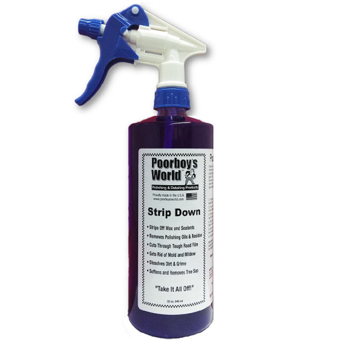 Poorboy's World Strip Down Wax Stripper 32oz w/Sprayer
