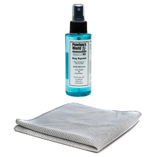 "Poorboy's World Bug Remover Kit - Bug Squash 4oz - Trial Size - Ready To Use w / Mesh Bug Towel - 12""x12"""