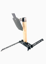 Steel Target Holder with Collapsible Target Head and 2/3rds AR500 Target - No Cardboard/Paper Holder (Front Piece)