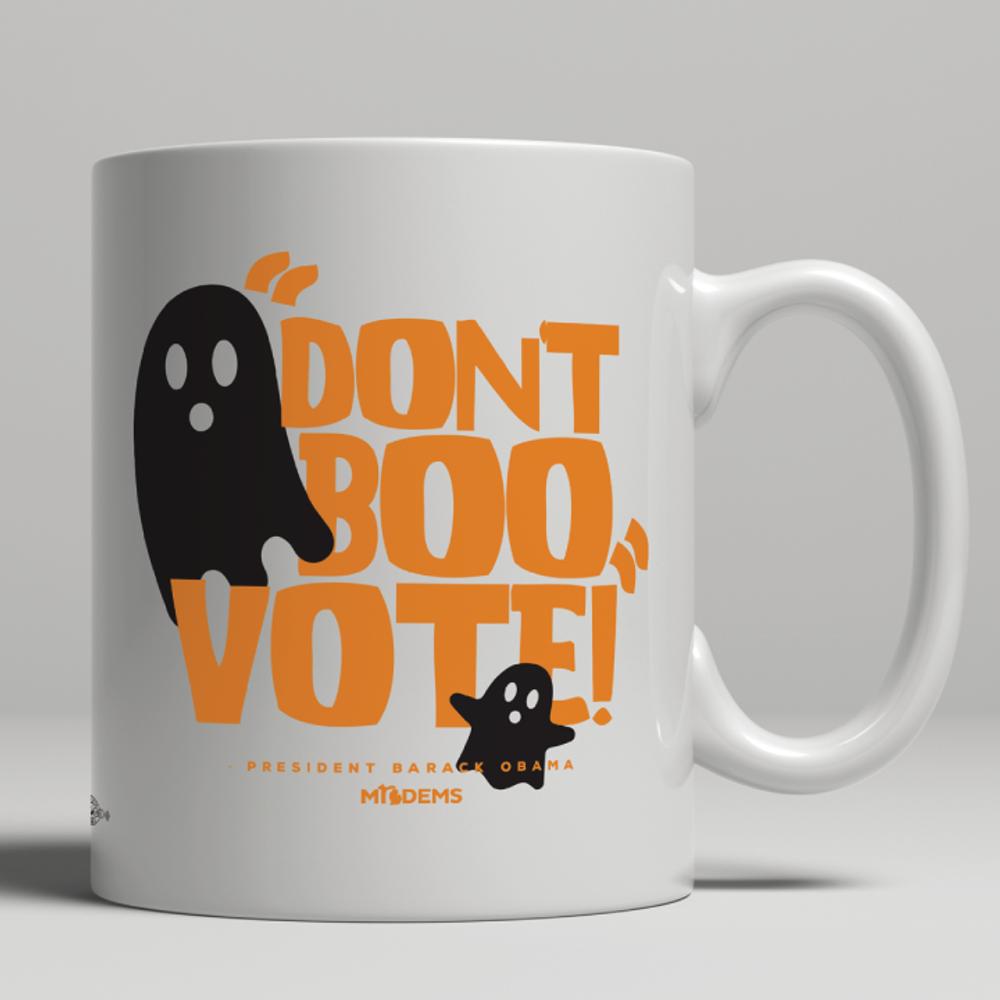 """Don't Boo, Vote!"" graphic on (11oz. Coffee Mug)"