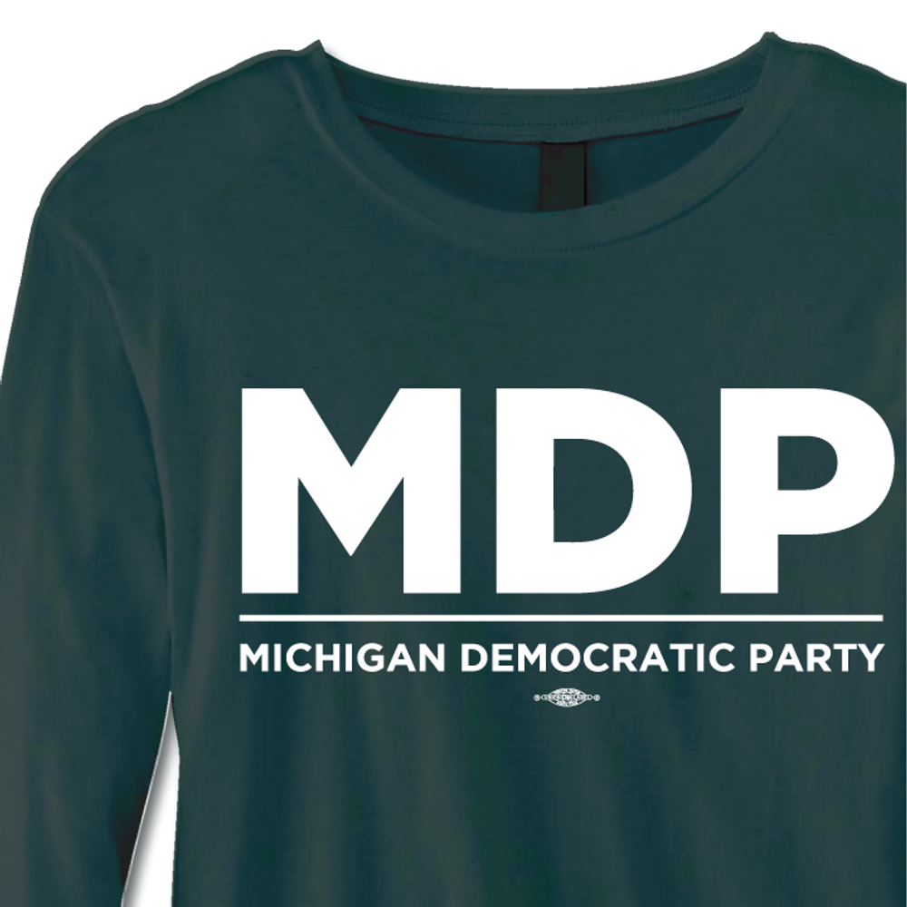 MDP Official Logo (White on Forest Green Longsleeve Tee)