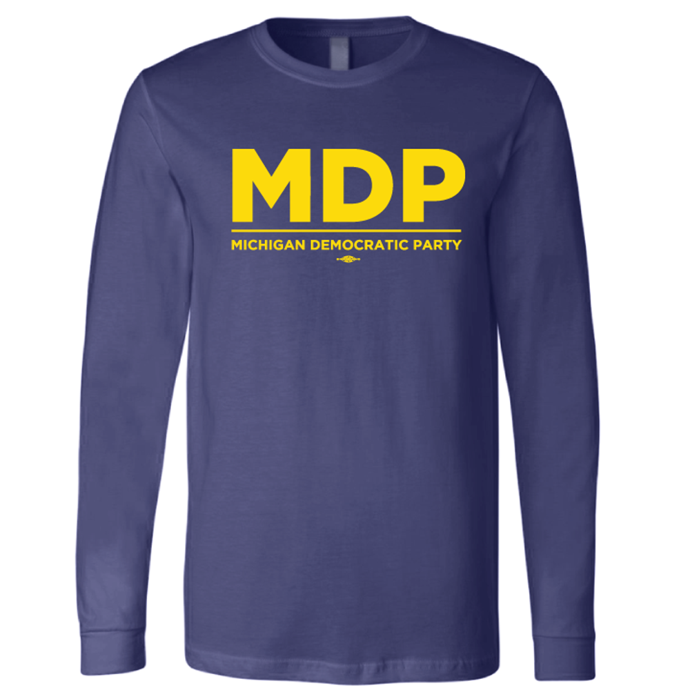 MDP Official Logo (Maize on Navy Long-Sleeve Tee)