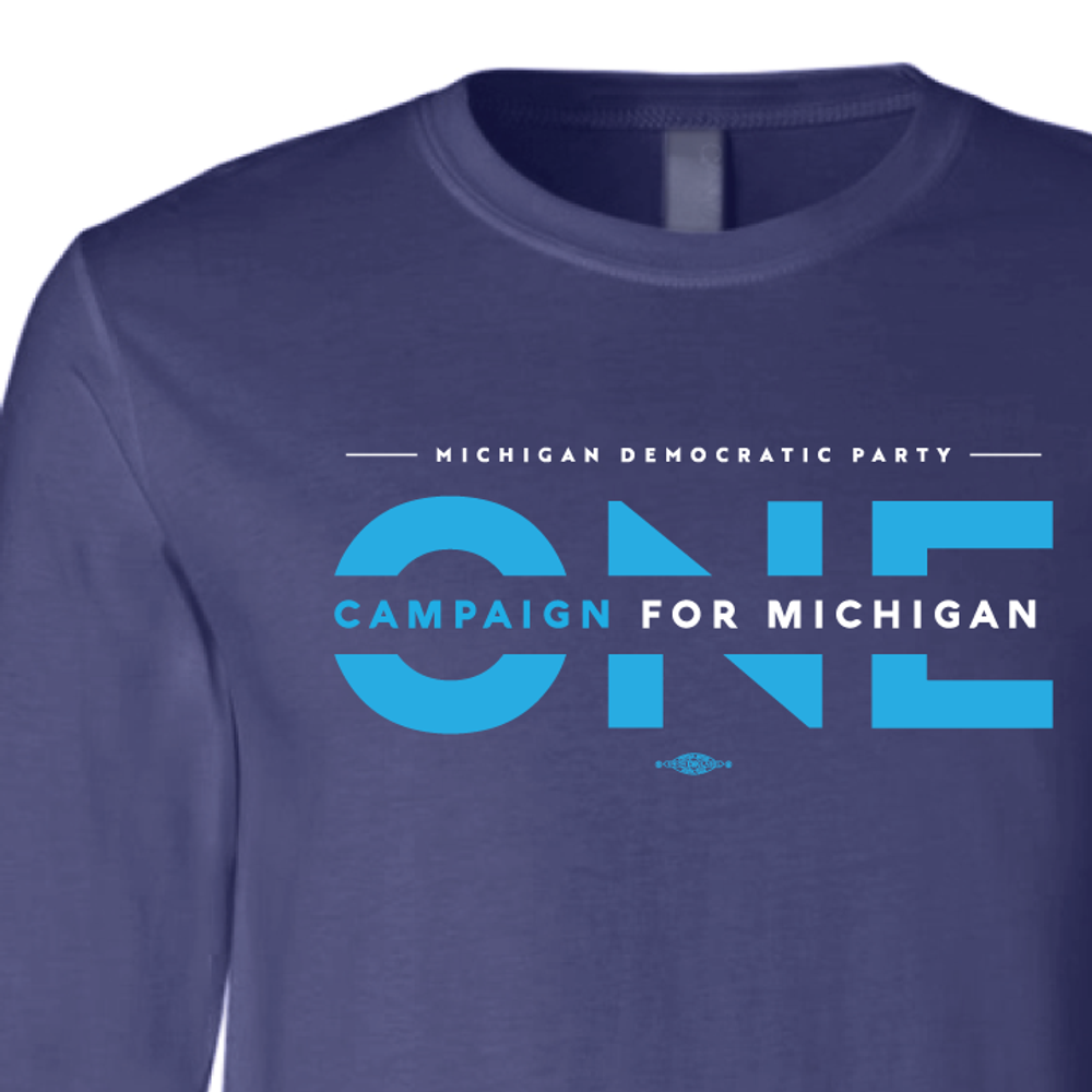 ONE Campaign for Michigan (Navy Long-Sleeve Tee)