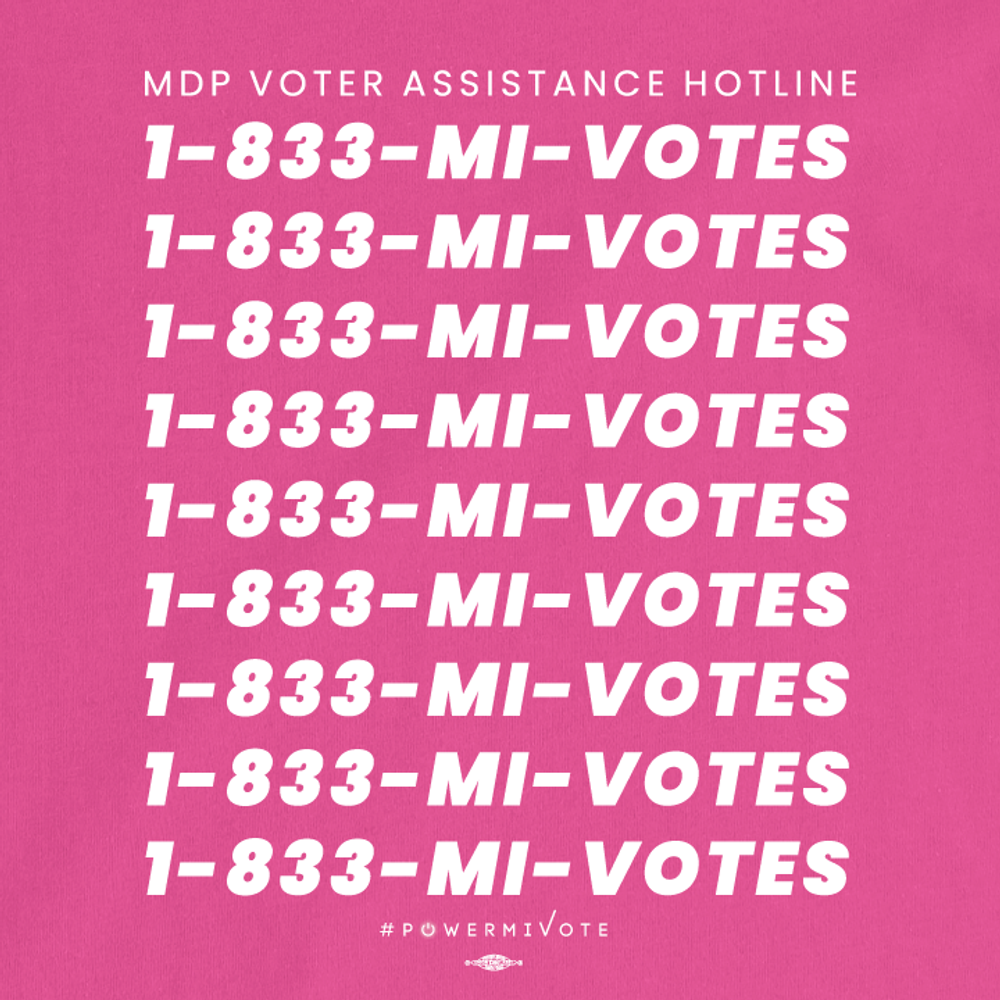 MDP Voter Assistance Hotline (Women's Fuschia Tee)