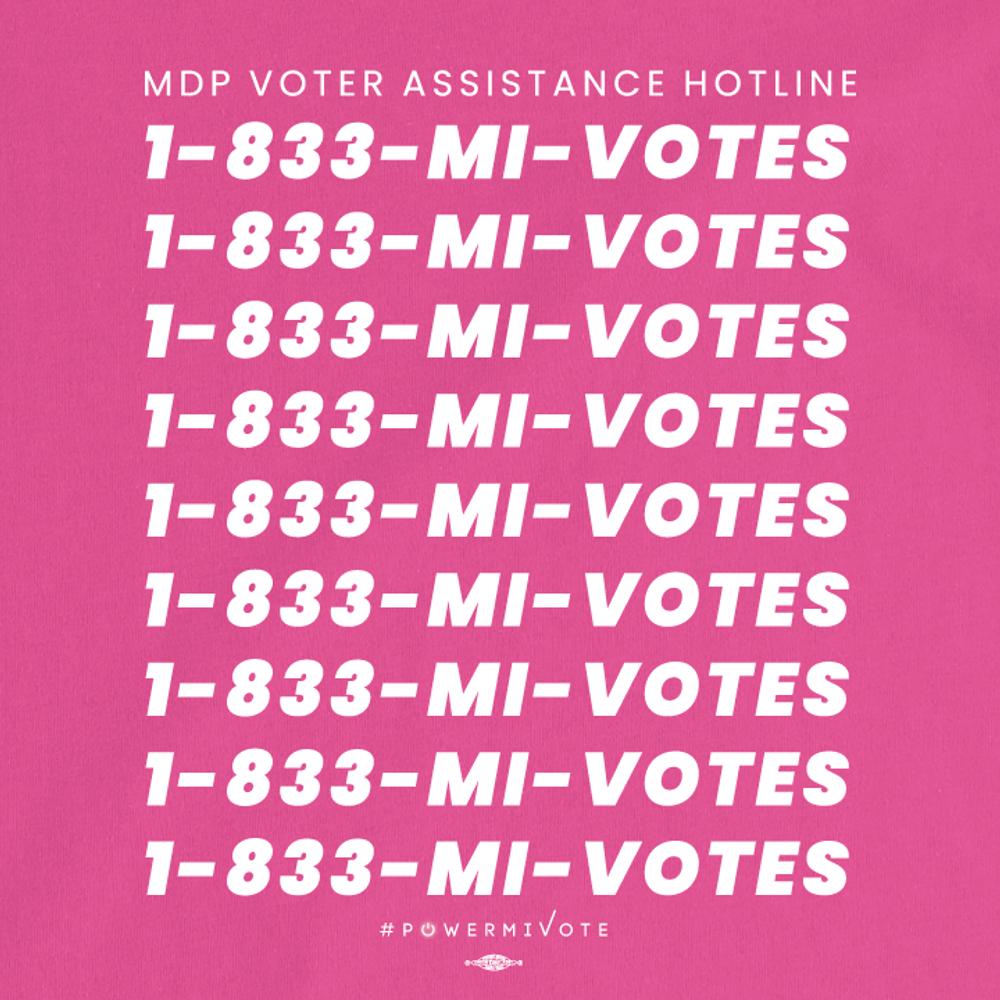 MDP Voter Assistance Hotline (Women's Fuschia Tee)