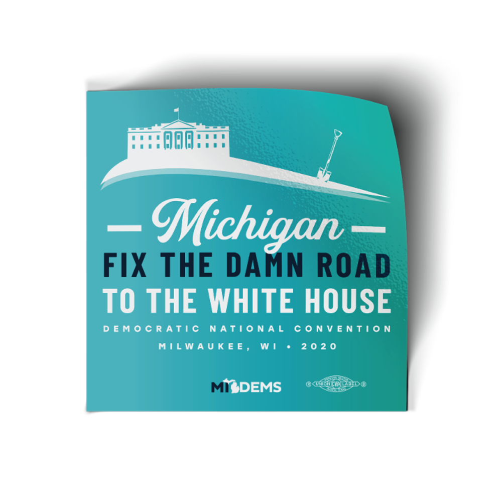 "Fix The Damn Road (4"" x 4"" Vinyl Sticker -- Pack of Two!)"