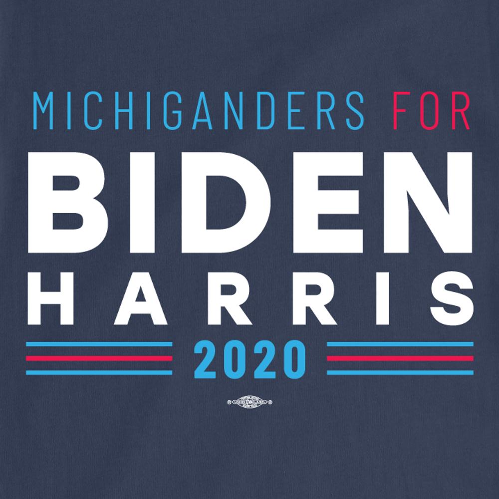 Michiganders For Biden Harris (Unisex Navy Tee)