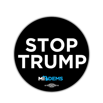 "Stop Trump (3.5"" x 3.5"" Vinyl Sticker -- Pack of Two!)"