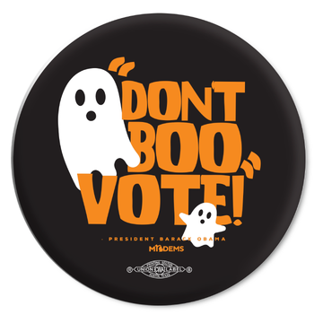 """Don't Boo, Vote!"" graphic on (2.25"" Mylar Button -- Pack Of Two!)"