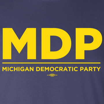 MDP Official Logo - (Maize on Navy Tee)