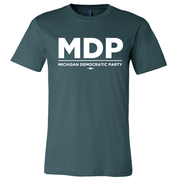 MDP Official Logo (White On Forest Green Tee)