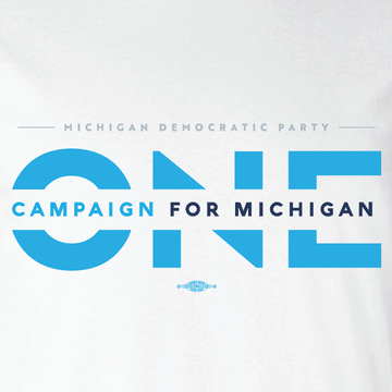 ONE Campaign for Michigan (White Long-Sleeve Tee)