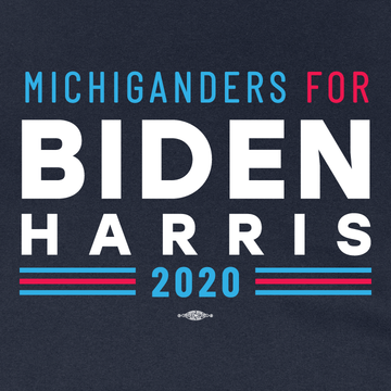 Michiganders For Biden Harris (Navy Pullover Hoodie)