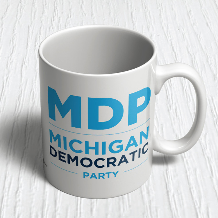 """MI Dems"" Logo Graphic (11oz. Coffee Mug)"