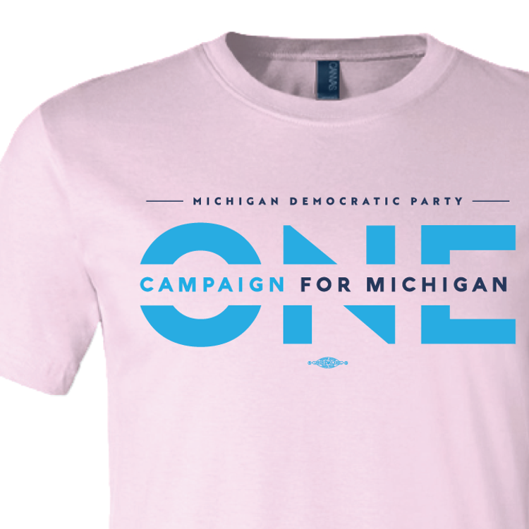 ONE Campaign for Michigan (Pink Tee)