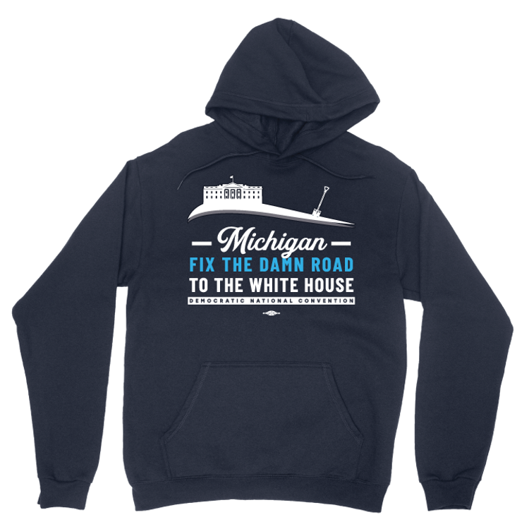 Fix The Damn Road (Navy Pullover Hoodie)