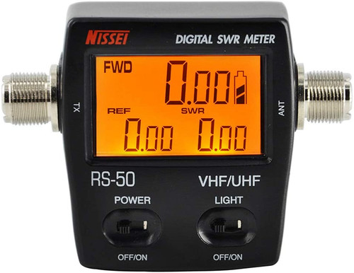 RS-50 Digital SWR/Watt Meter VHF/UHF 125-525MHz 120W