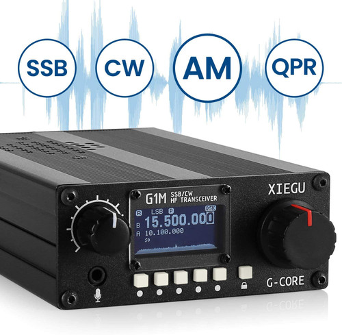 XIEGU G1M HF TRANSCEIVER QUAD BAND PORTABLE SDR QRP 5W SSB CW AM