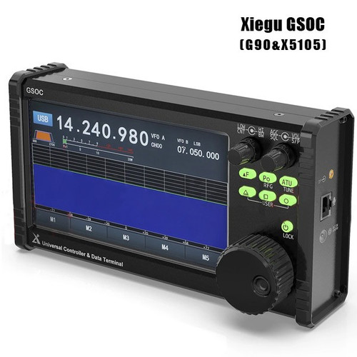 Xiegu GSOC Panadapter Remote Controller Touch Screen and Spectrum Waterfall Display